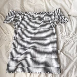 Striped Off the Shoulder Tee